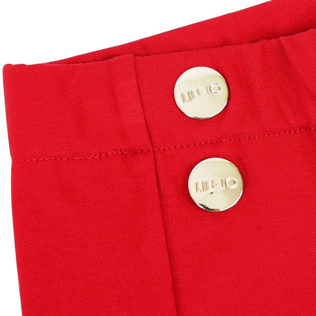 Milano stitch jersey trousers with metal buttons Red Liu Jo