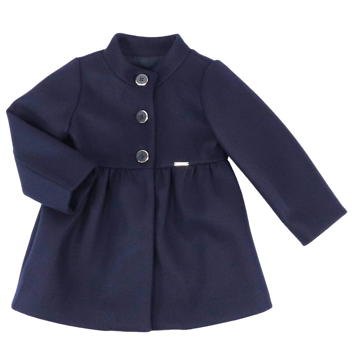 Single-breasted coat with stand-up collar Blue Liu Jo