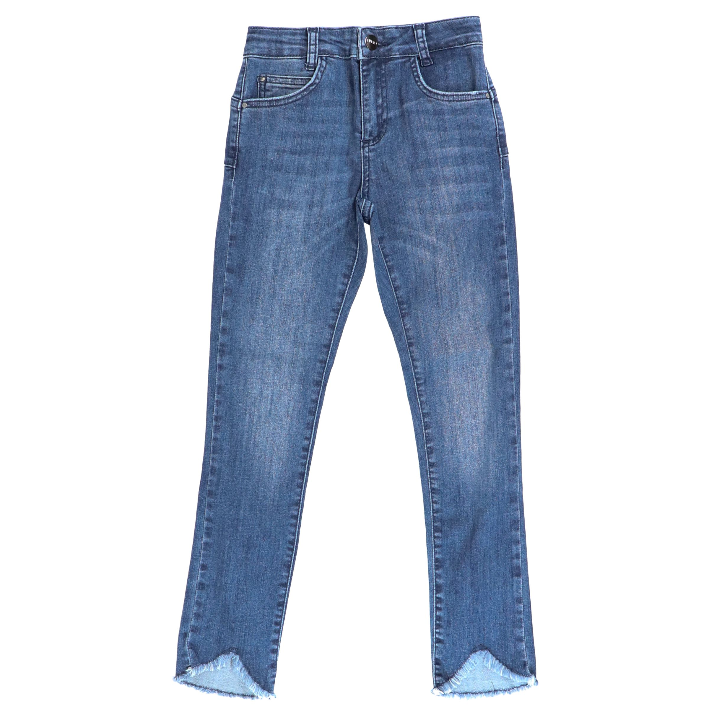 san francisco 6277f b5623 Worn-effect jeans with breaks and fringe on the bottom