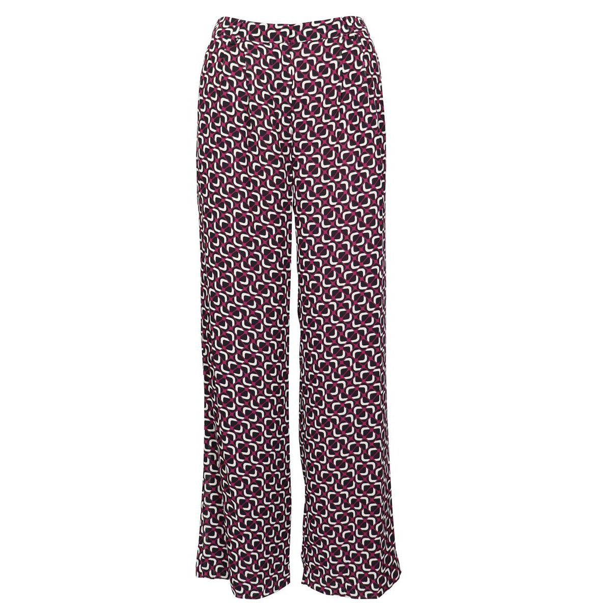 Palazzo trousers in viscose with jacquard print Cyclamen Michael Kors