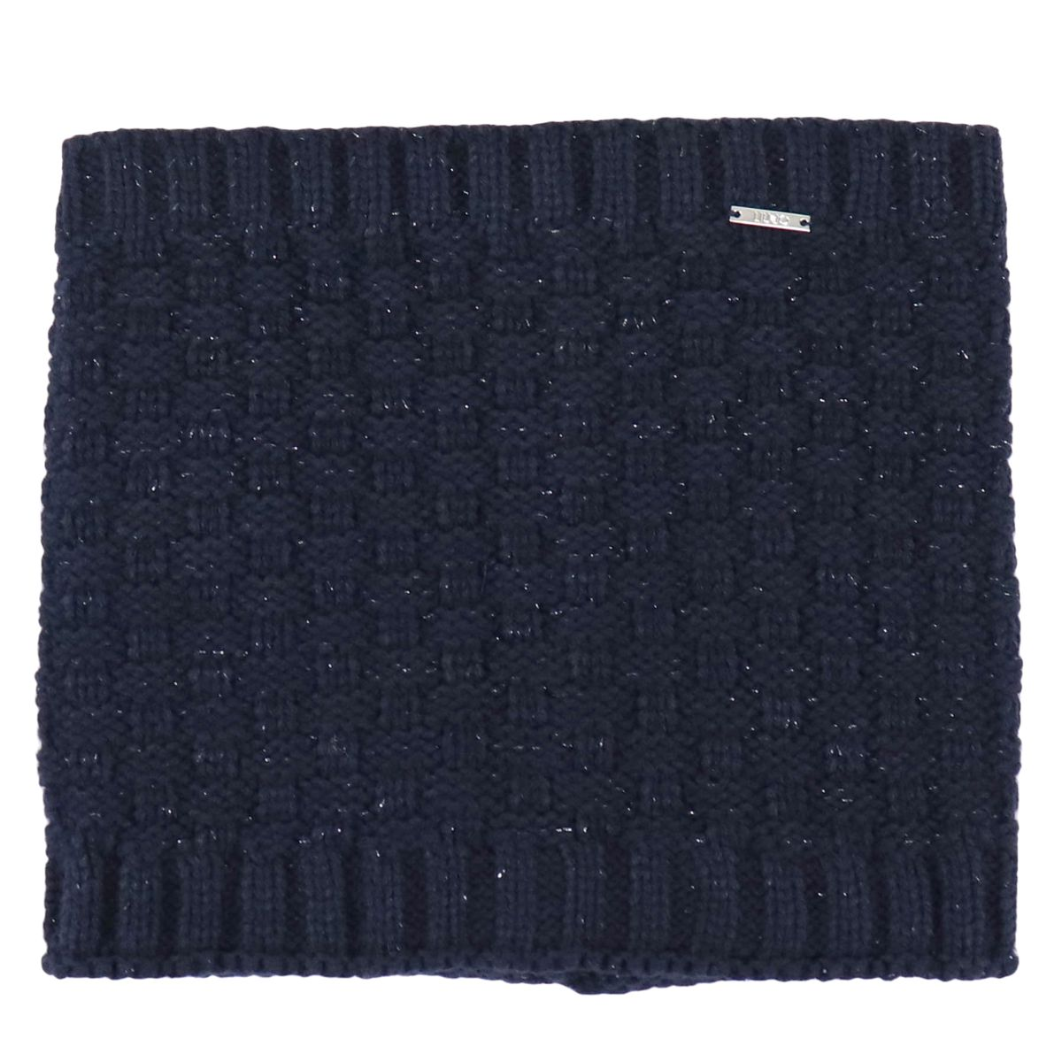 Knitted collar with lurex inserts Blue Liu Jo