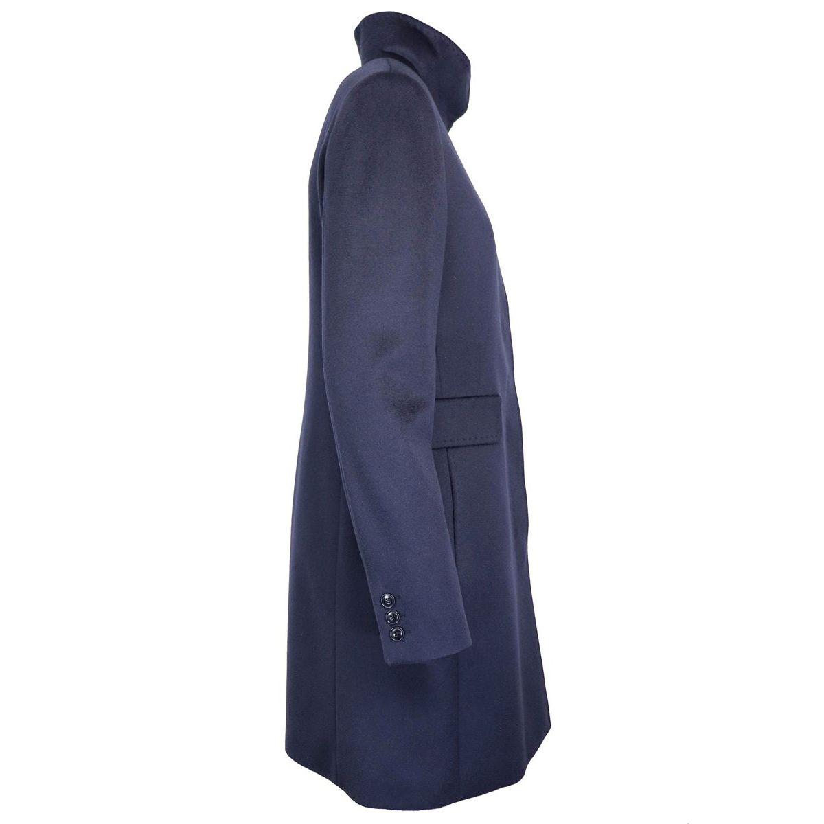 AGNESE virgin wool coat Navy Max Mara