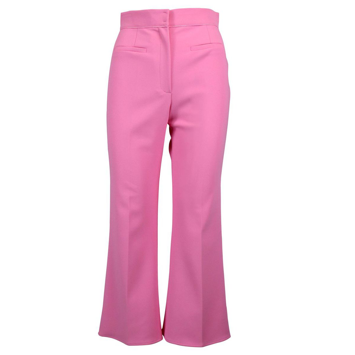 Cropped trousers with flare bottom Deep pink Elisabetta Franchi