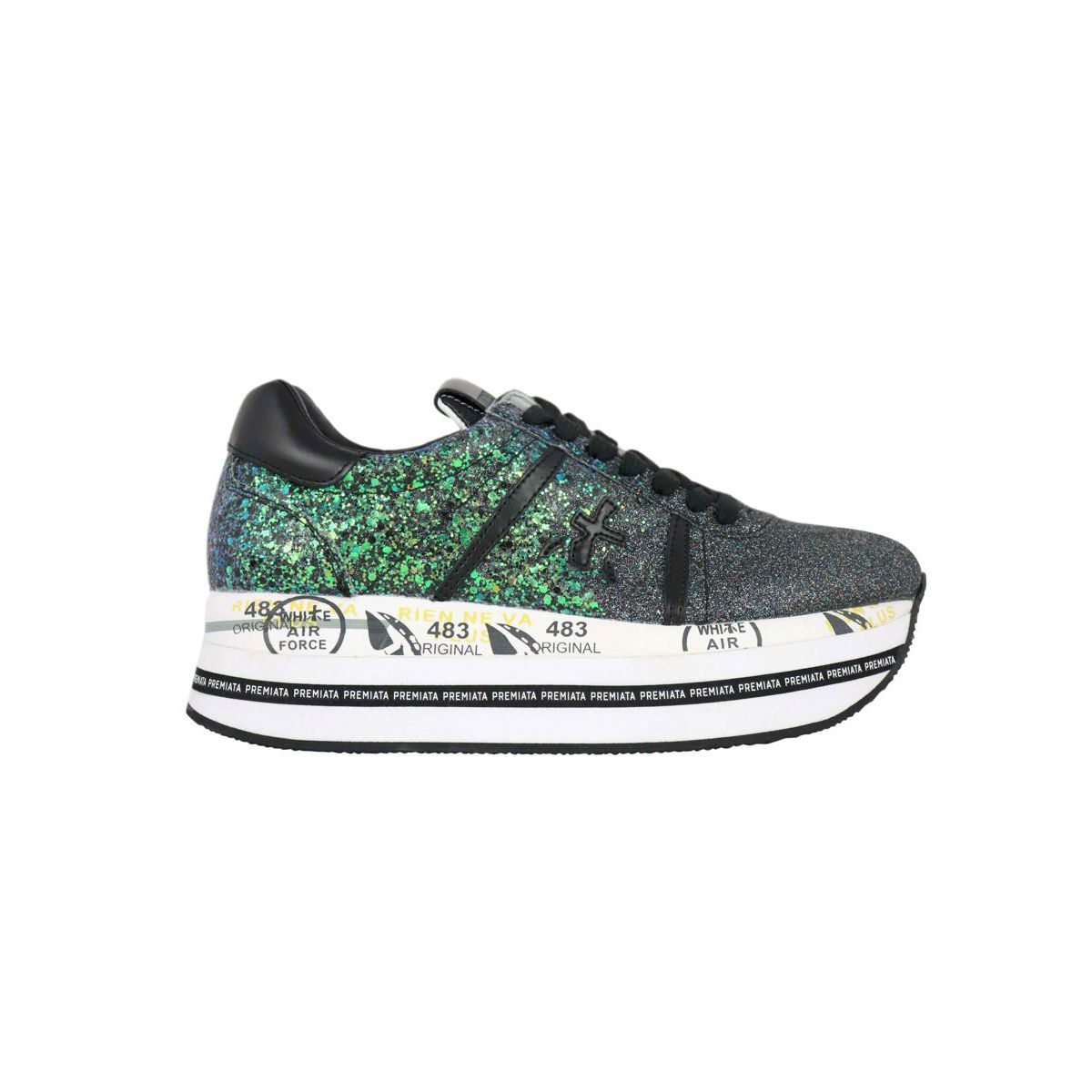 Beth 4036 Sneakers Green / anthracite Premiata