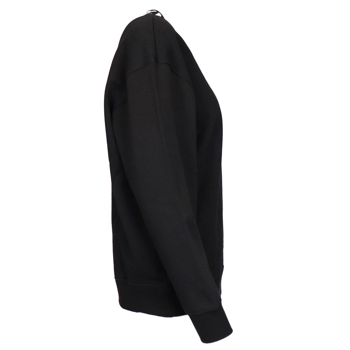 Cotton sweatshirt with logoed crew neck Black Michael Kors