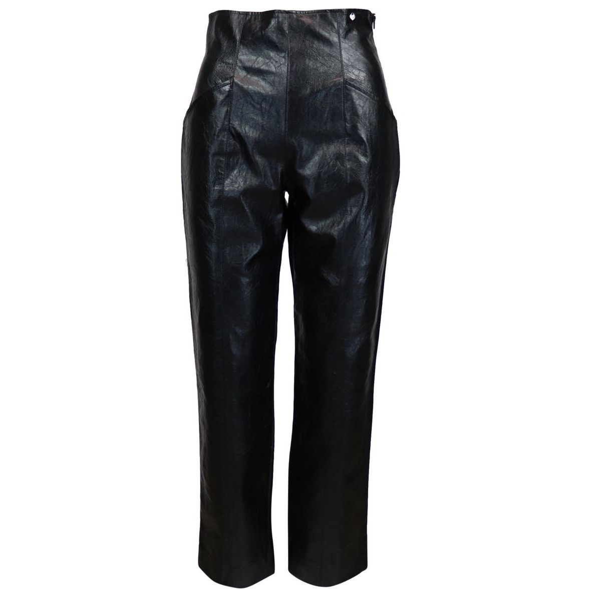 High-waisted shiny imitation leather trousers Black Twin-Set
