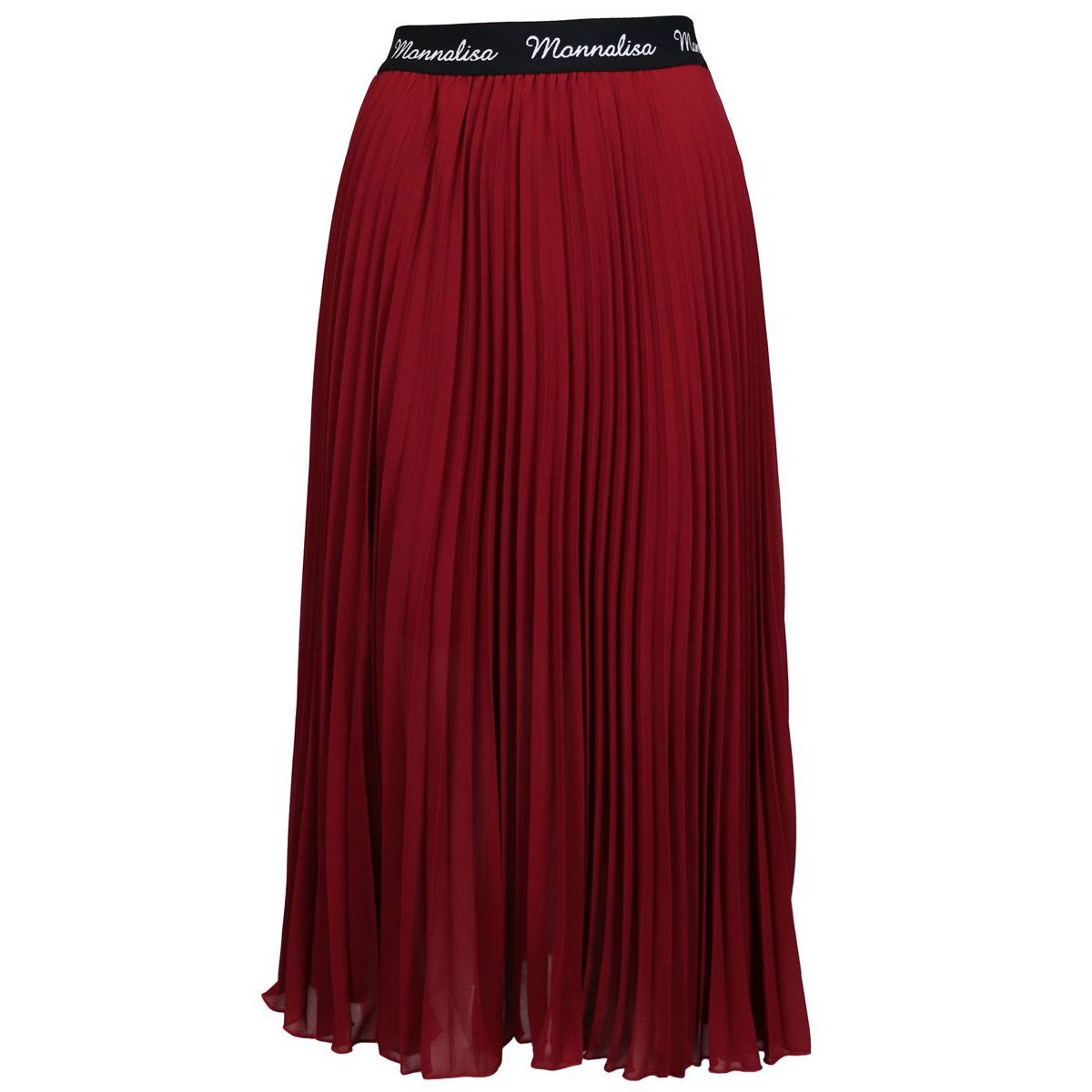 Pleated organza skirt with logoed elastic belt Ruby Monnalisa