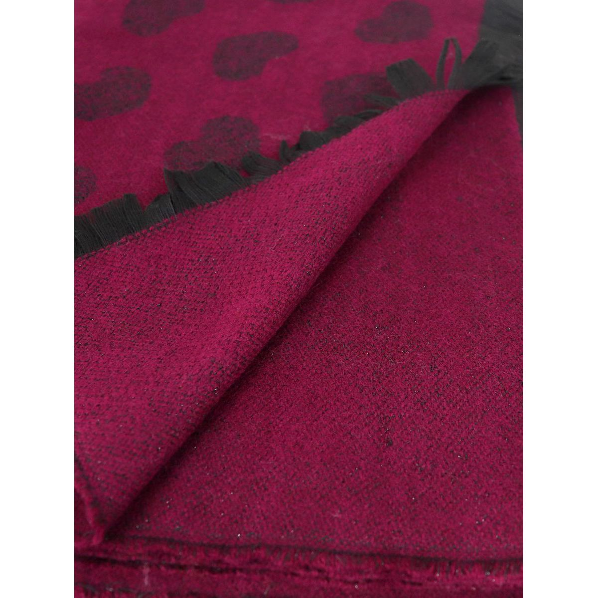 Maxi scarf with hearts and logo design Red Twin-Set