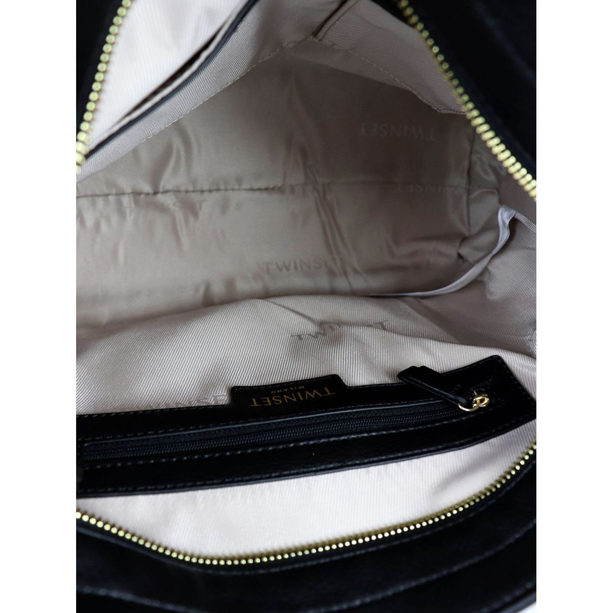 Shopper bag in leatherette with studs Black Twin-Set
