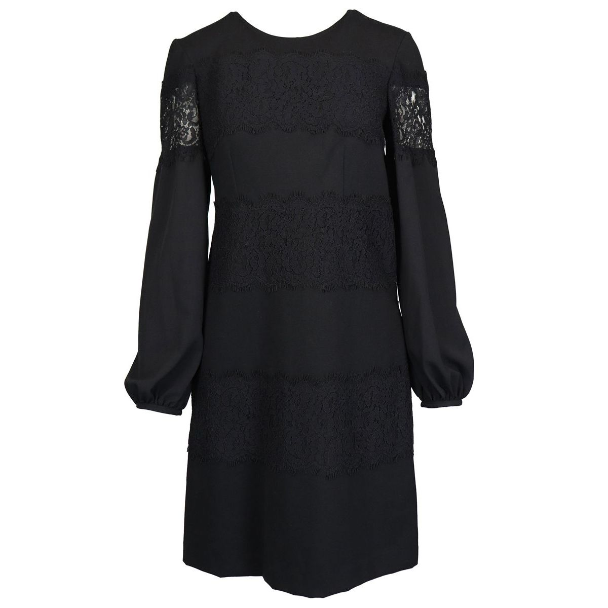 Long sleeve dress with tone on tone lace details Black Twin-Set