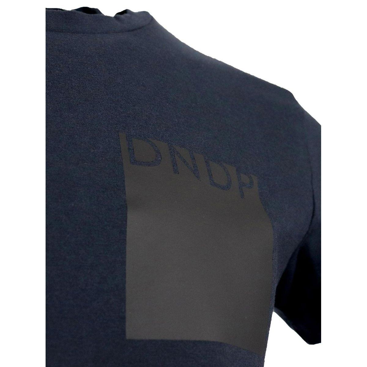 Crew-neck cotton T-shirt Blue Dondup
