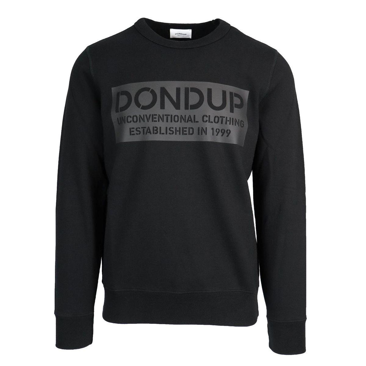 Cotton sweatshirt with logo print Black Dondup