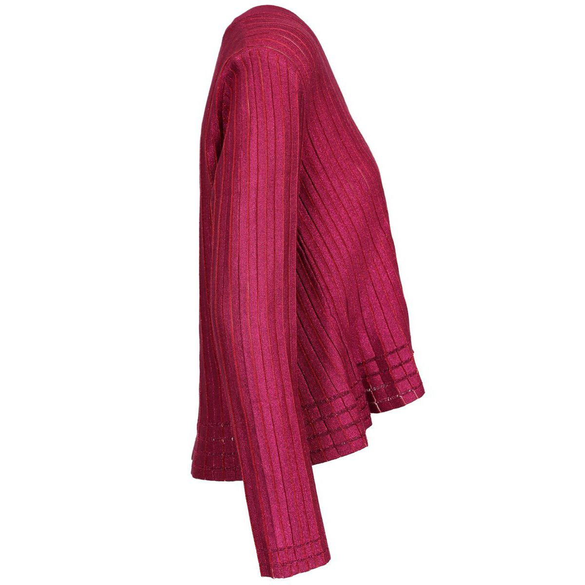 Striped lurex viscose cardigan Magenta Twin-Set