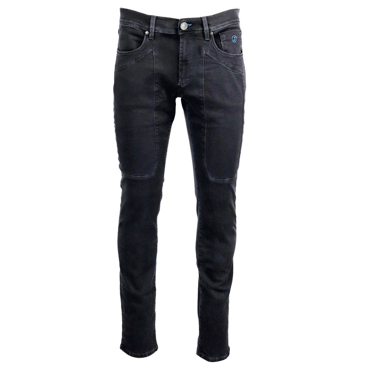 Slim jeans with 5 patch pockets Black Jeckerson