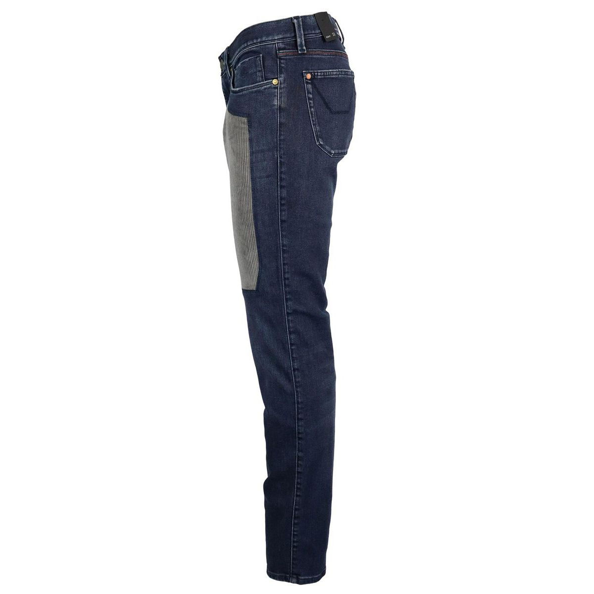 Slim jeans with corduroy patch Denim Jeckerson