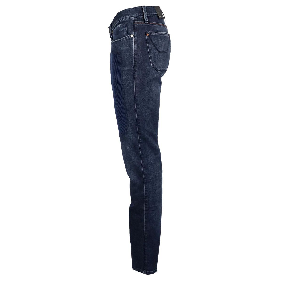 Slim jeans with corduroy patch Dark denim Jeckerson