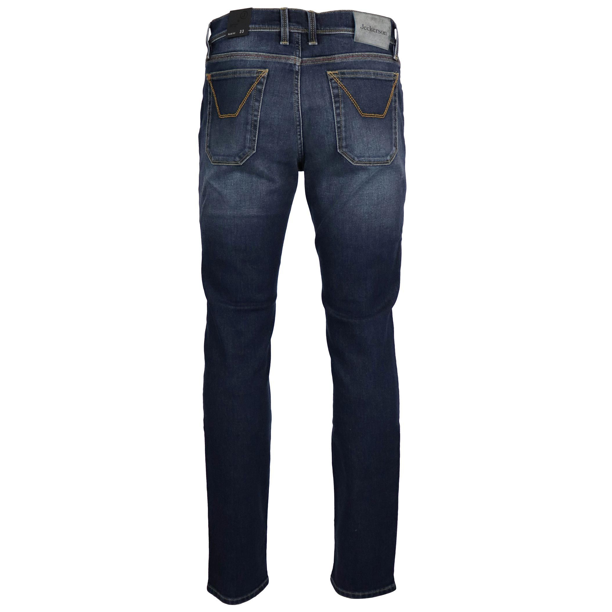 Jeans slim con patch 3Blend e cuciture a vista