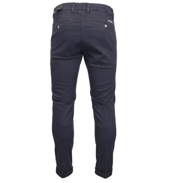 Pantalone chino in cotone con tasche america Blu Jeckerson