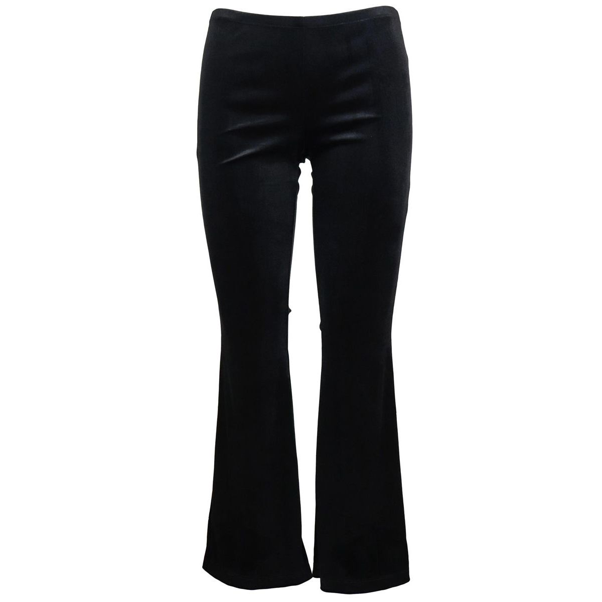 Chenille flared trousers Black Monnalisa