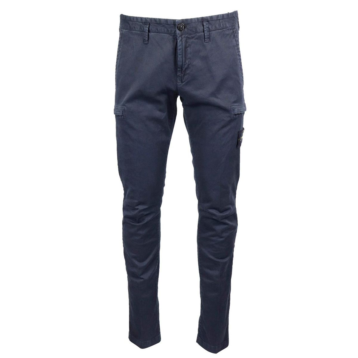 Skinny cotton trousers with pockets Blue Stone Island