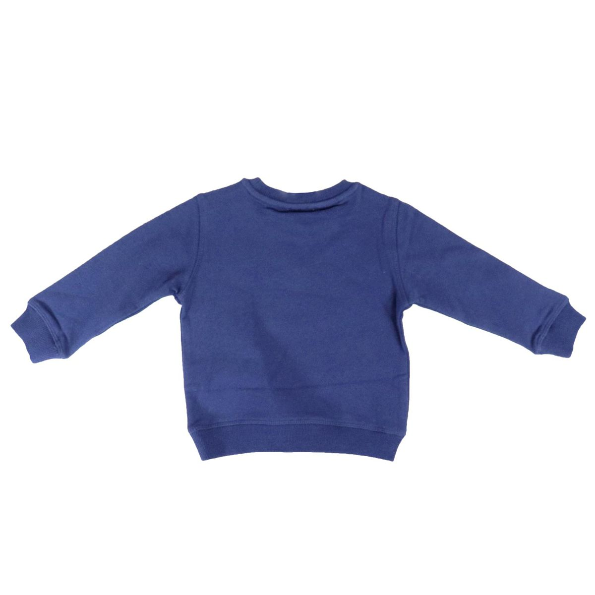 Cotton crewneck sweatshirt with Tiger logo patch Blue Kenzo