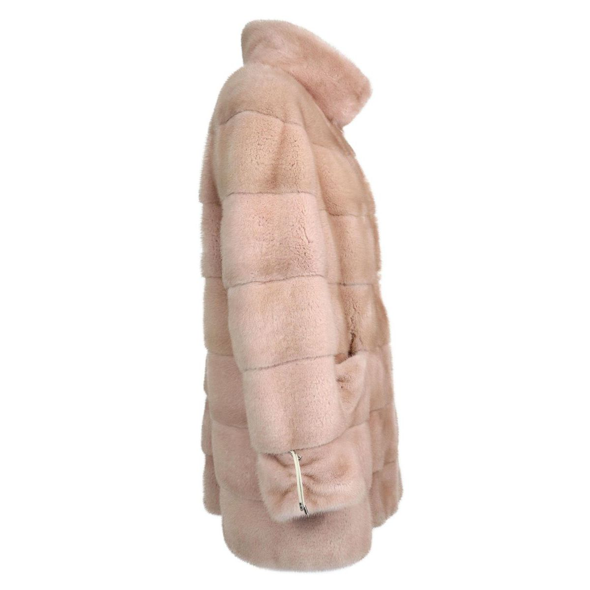 Mink fur with standing collar and pockets Quartz Marester