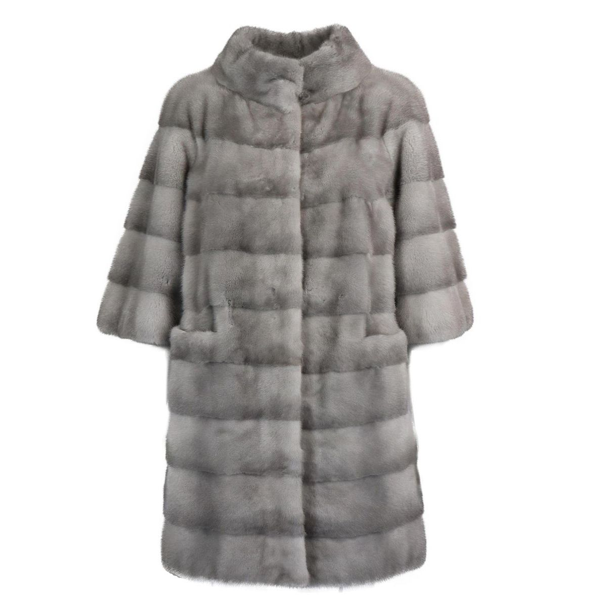 Mink fur with wide three-quarter sleeves Grey Marester