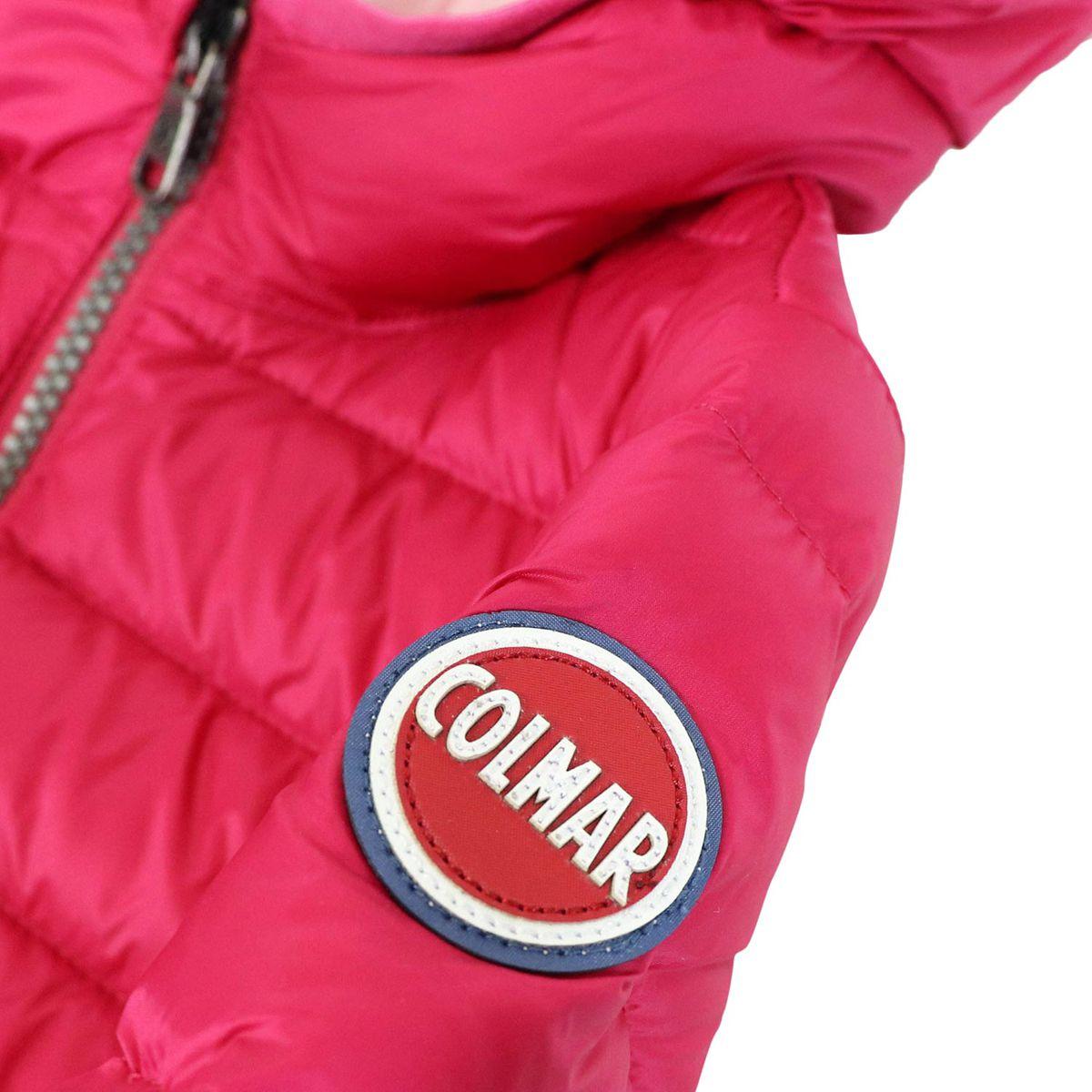 Down jacket with hood Place Fuchsia Colmar