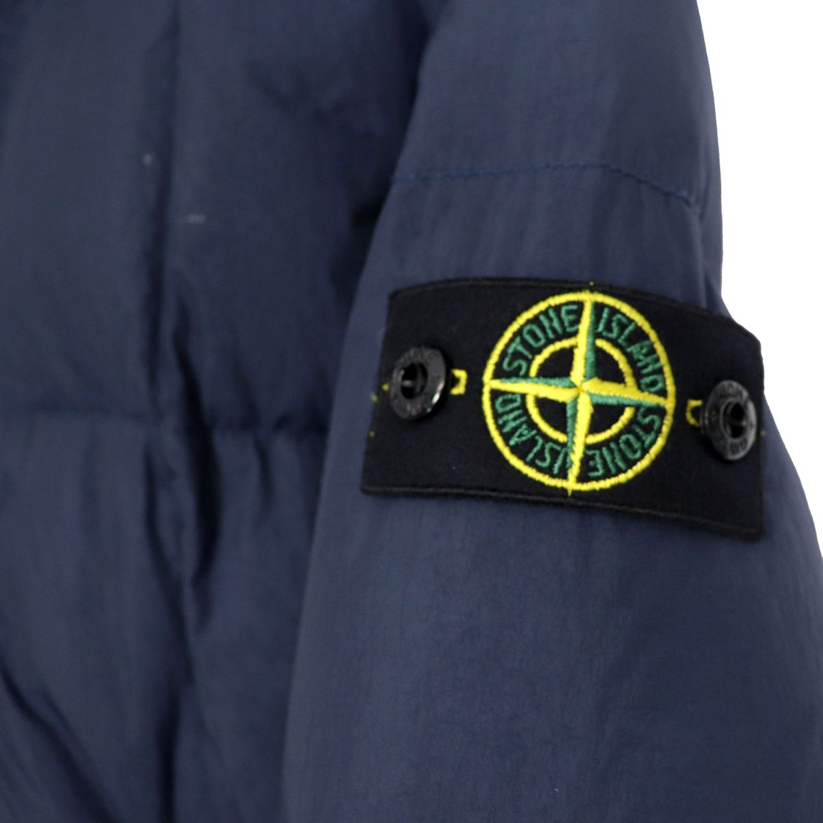 Technical fabric jacket with hood and zip Blue STONE ISLAND JUNIOR