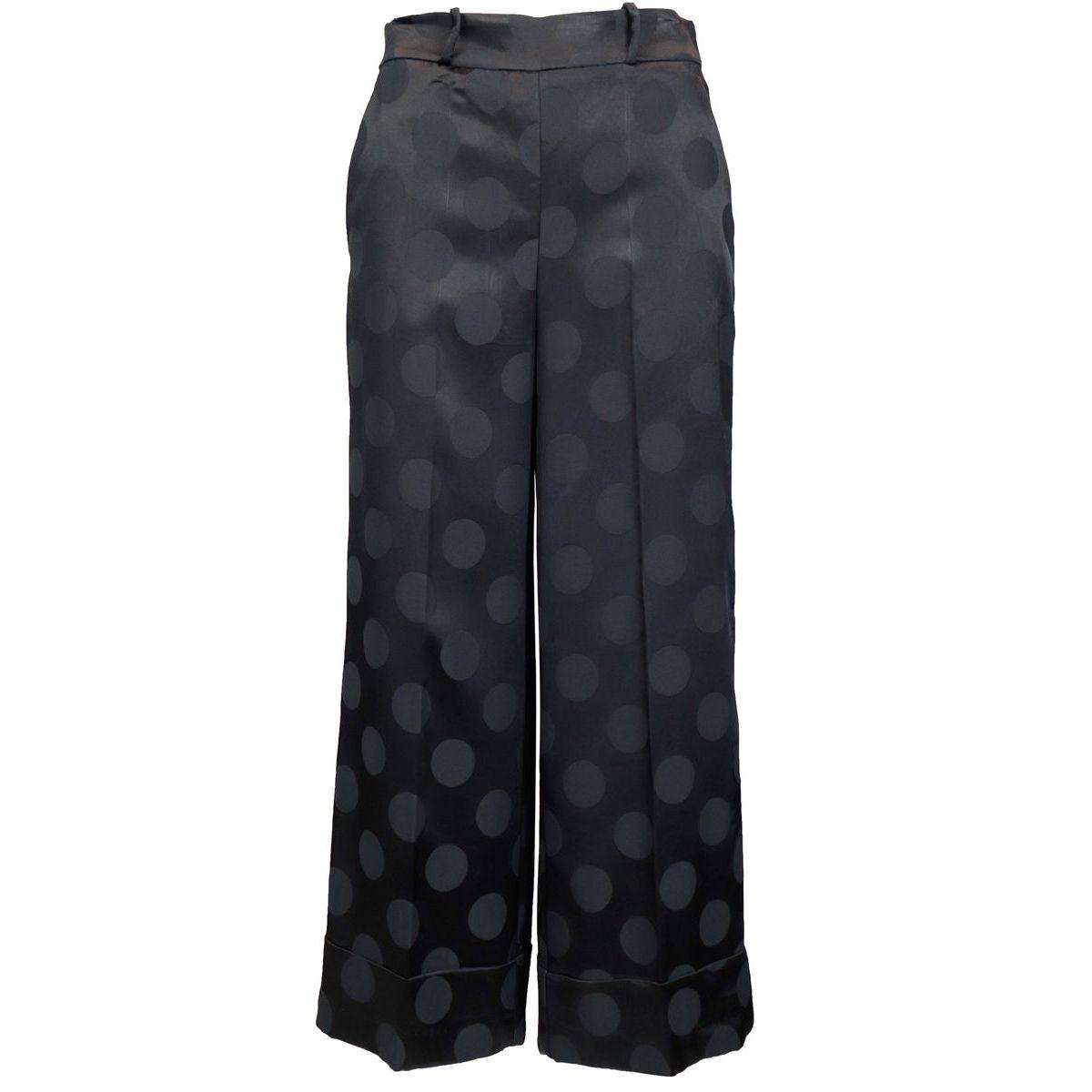 Pantalon brillant à pois ton sur ton Noir Maliparmi