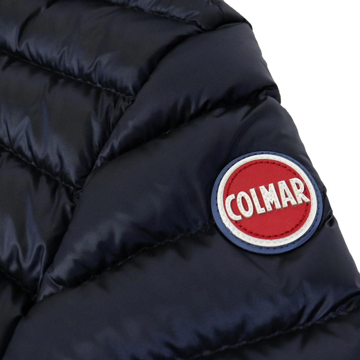 Quilted nylon quilted jacket with hood and zip Blue Colmar