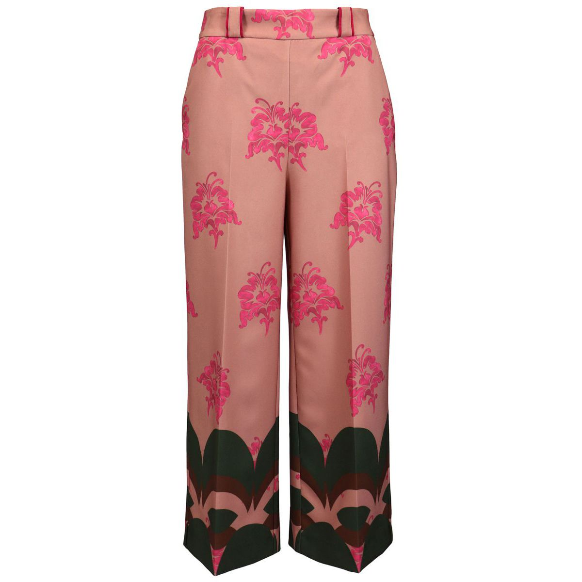 BOHO LILY wide pattern trousers Orange / strawberry Maliparmi