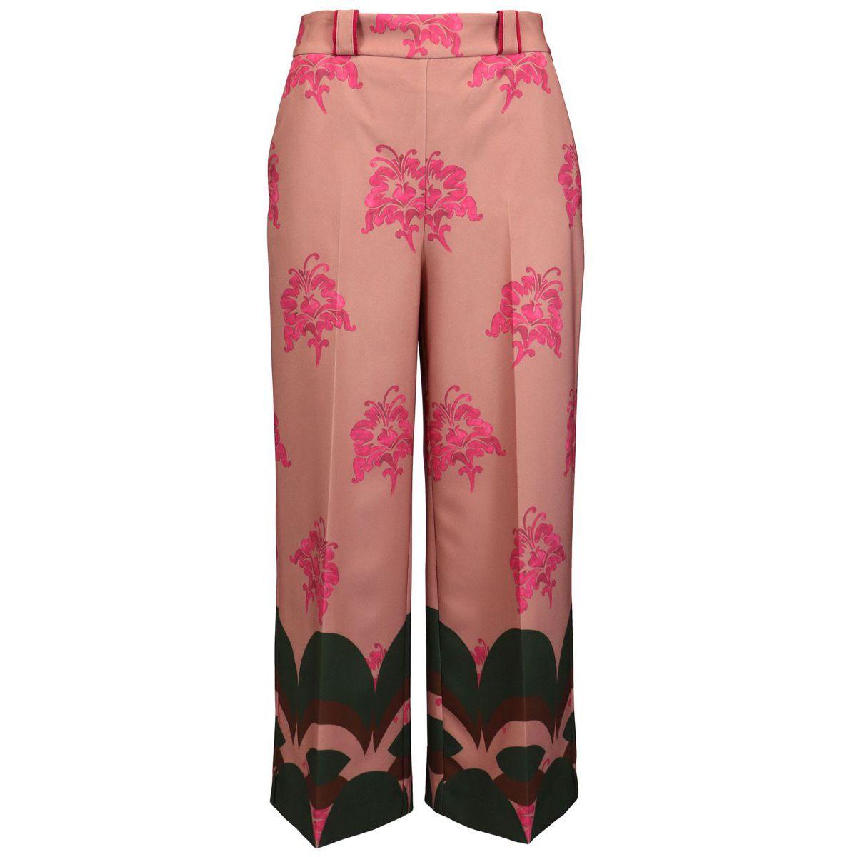 Pantalon large à motif BOHO LILY Orange / fraise Maliparmi