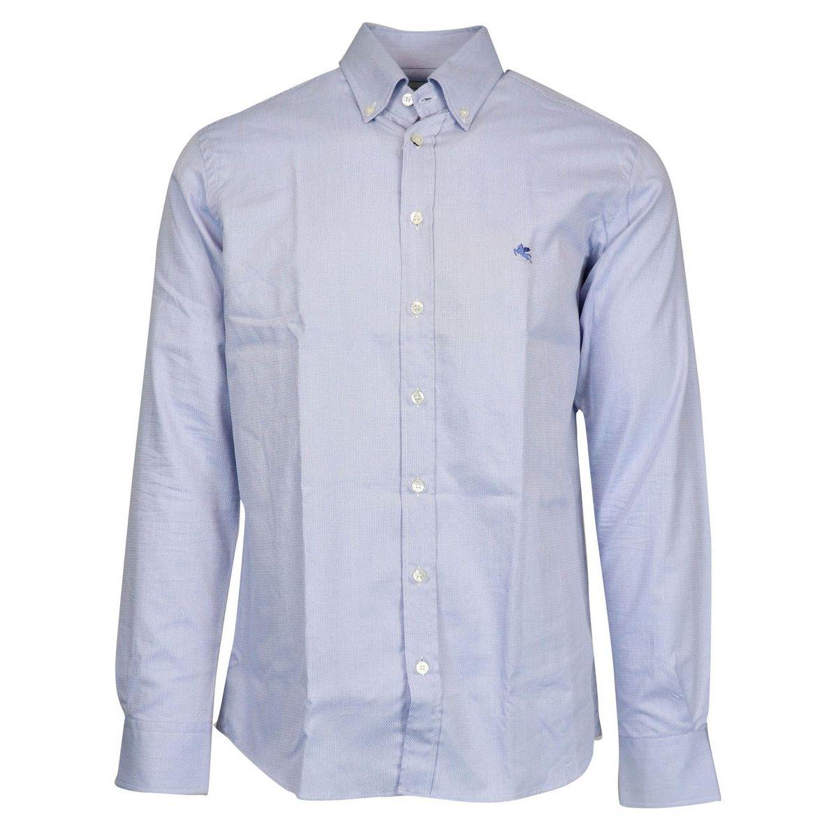 Regular button down cotton shirt with logo Heavenly Etro