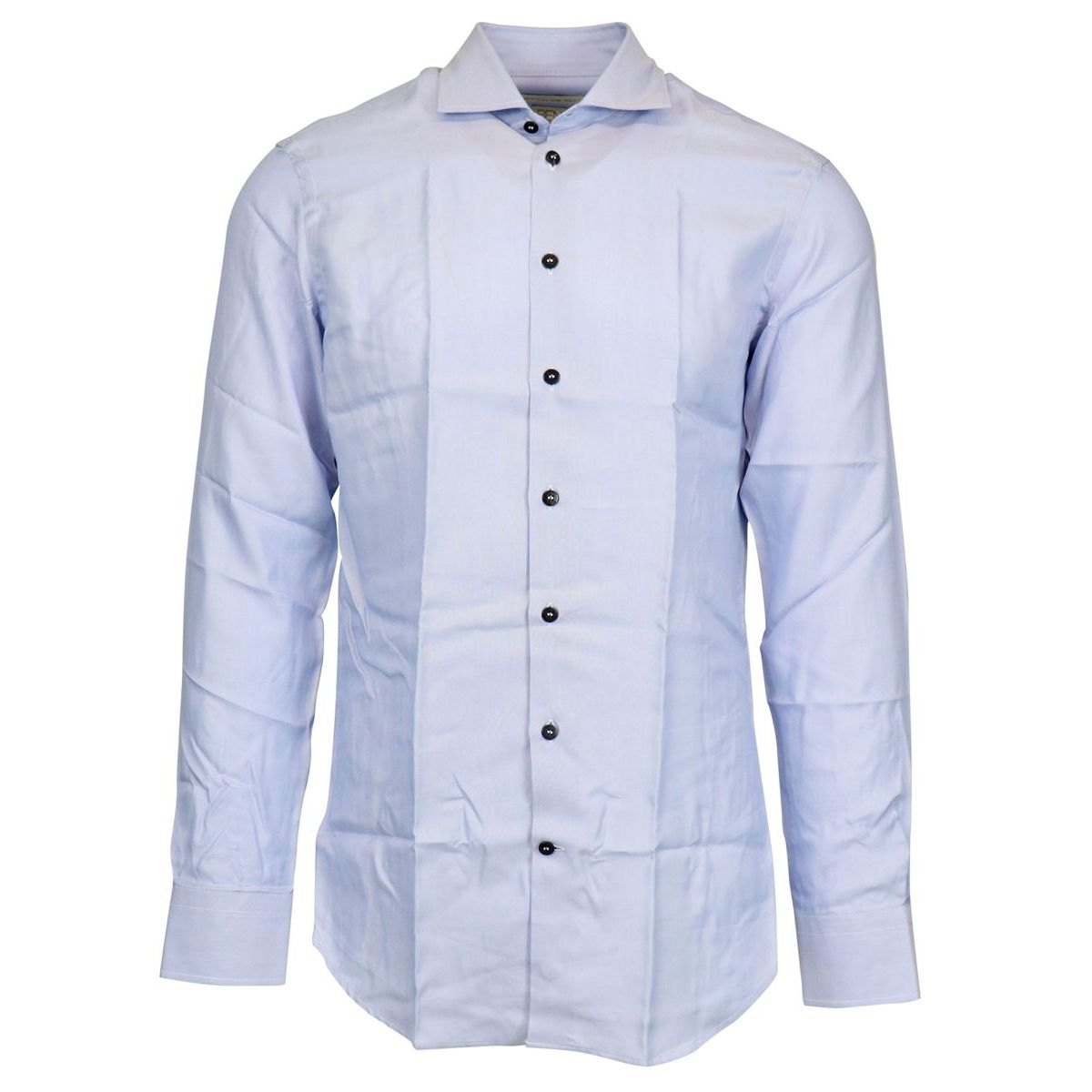 Slim cotton spread shirt with contrasting buttons Blue Etro