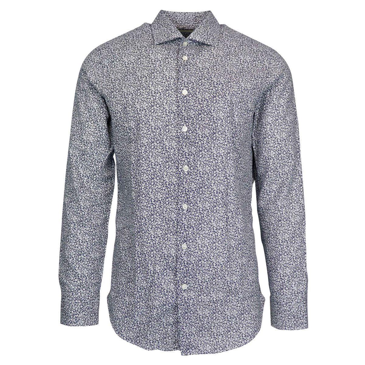 Slim spread paisley pattern cotton shirt Blue Etro