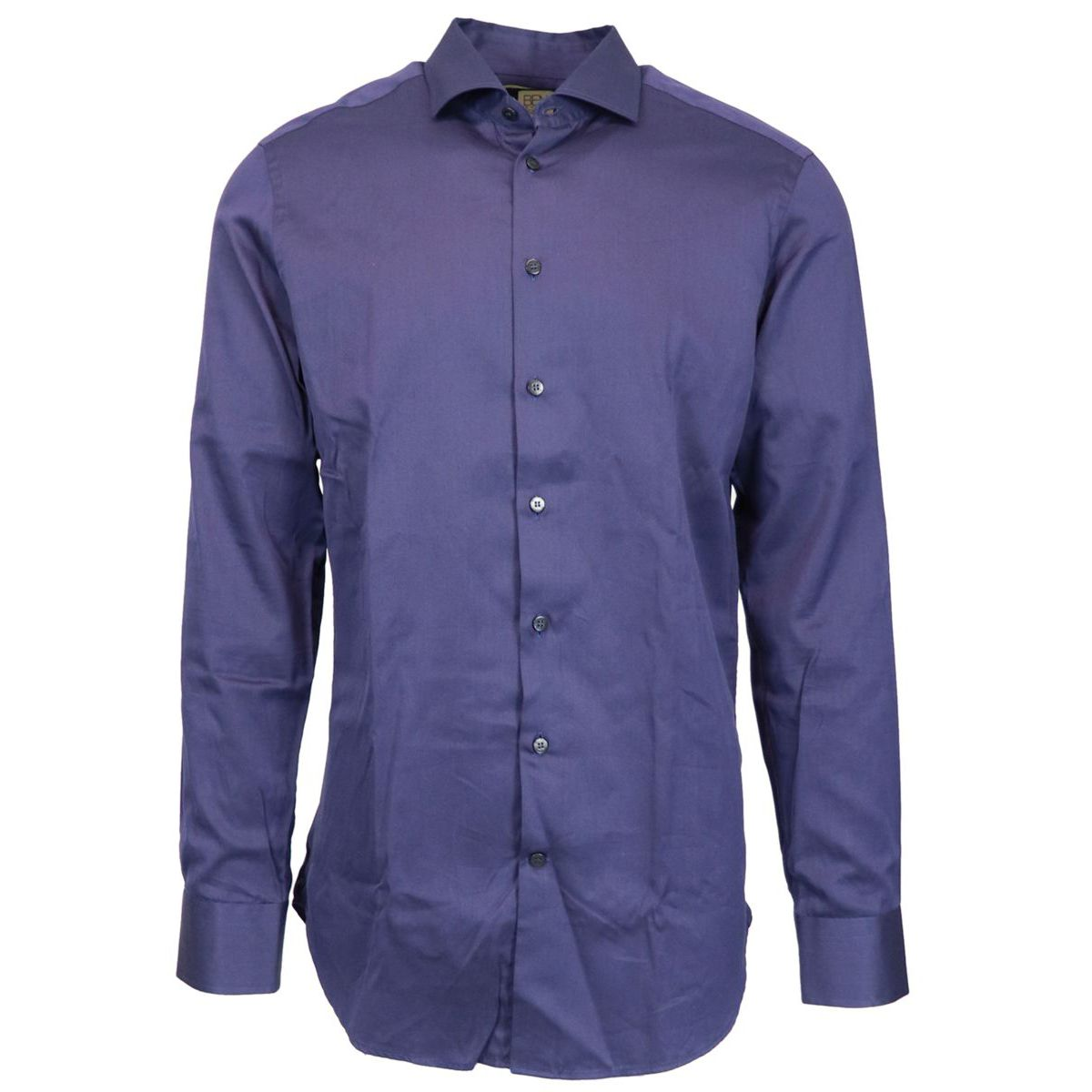 Slim cotton spread shirt Navy Etro