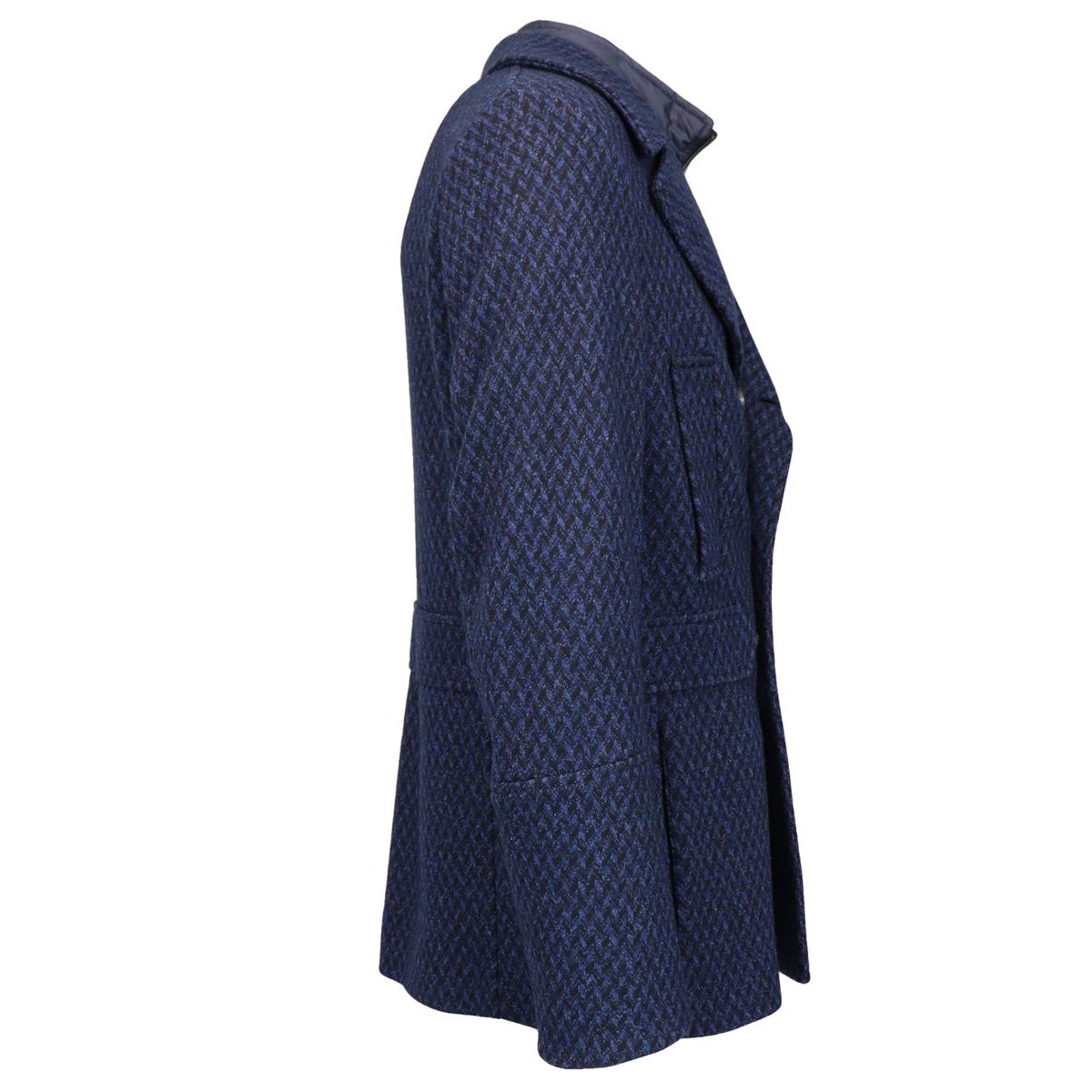 Double-breasted wool coat with internal waistcoat Blue Etro