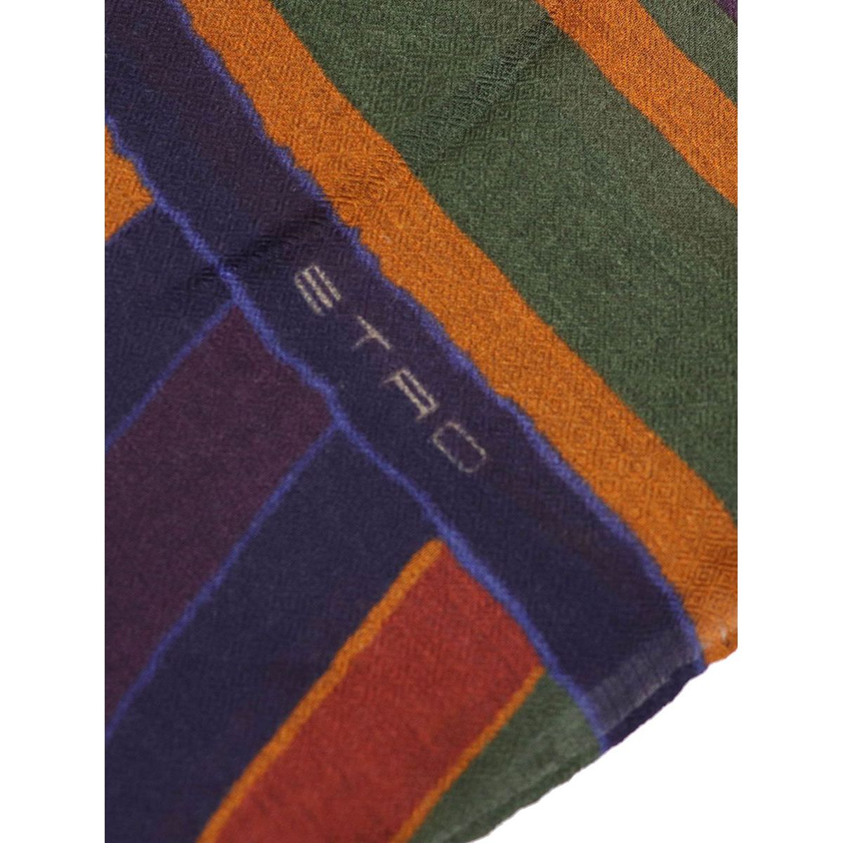 Mixed modal and wool scarf with mulricolor print Plum Etro