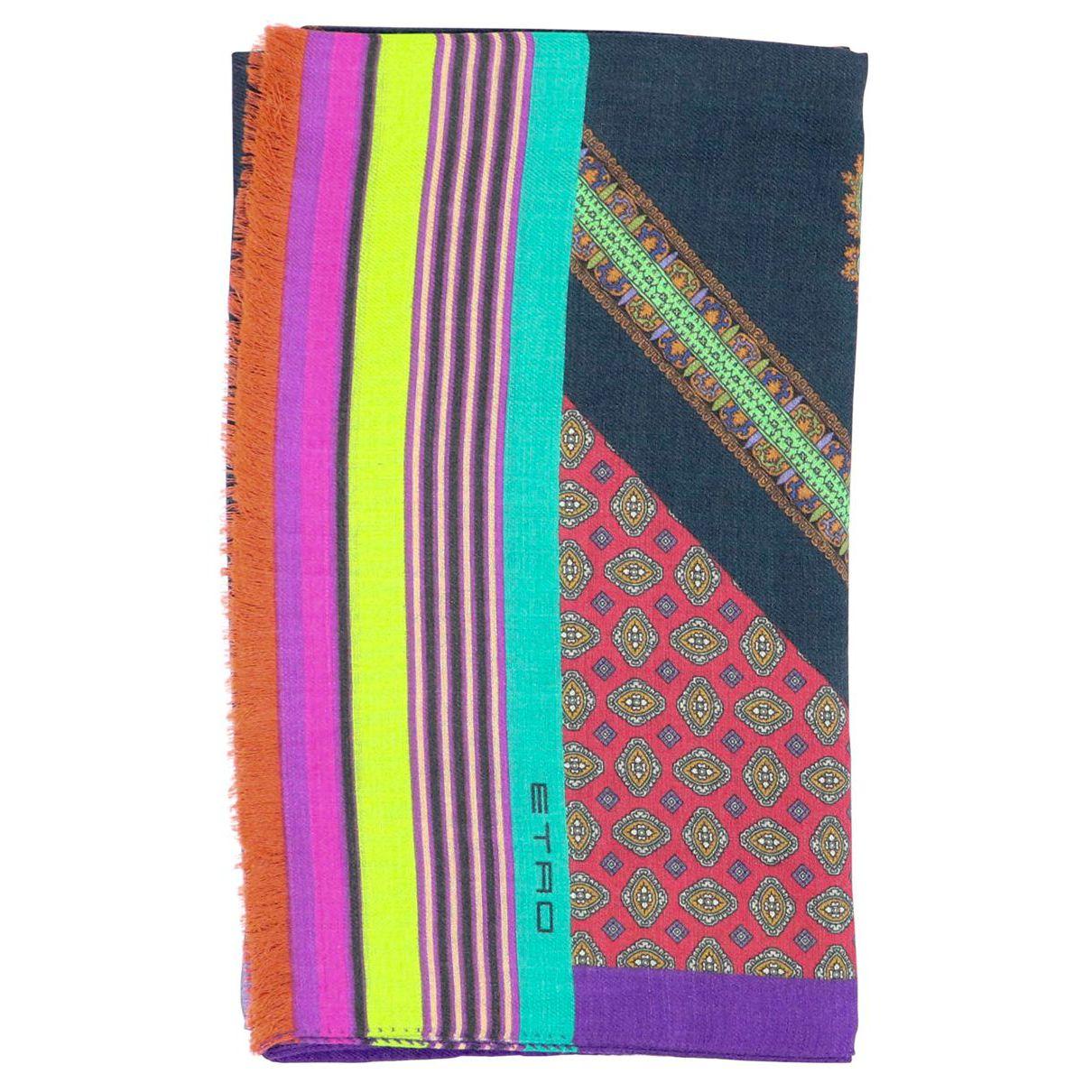 huge discount a626e bb0eb Sciarpa in misto lana e seta con stampa multicolor