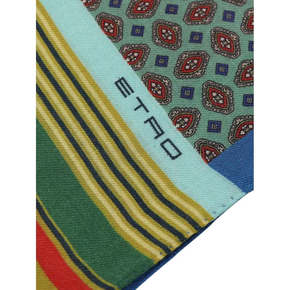 Mixed wool and silk scarf with multicolor print Red Etro