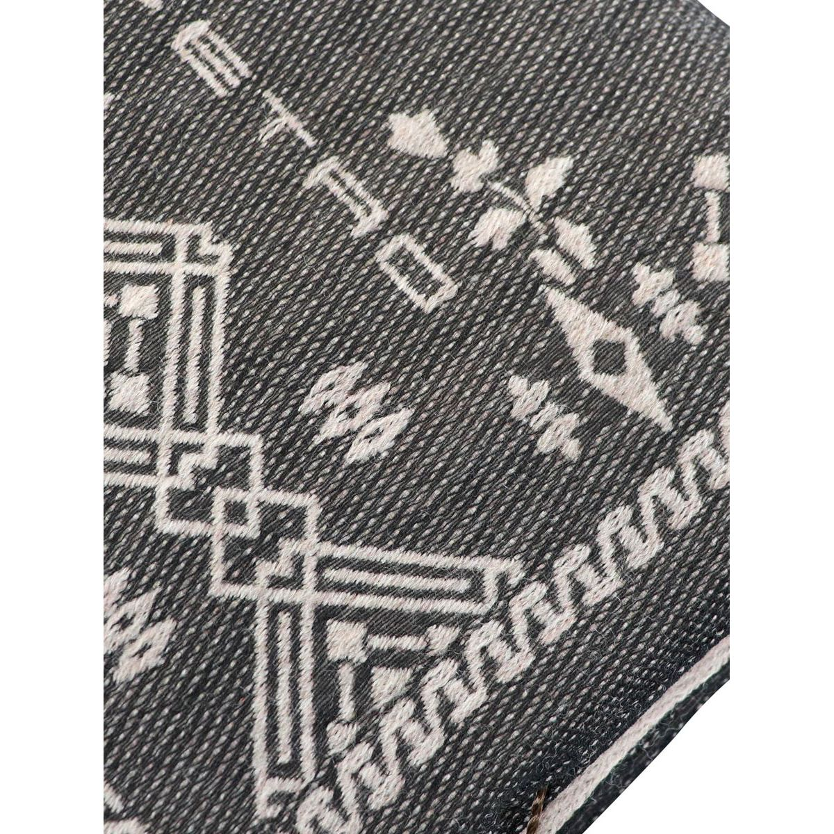Wool and silk blend scarf with fringes Grey Etro