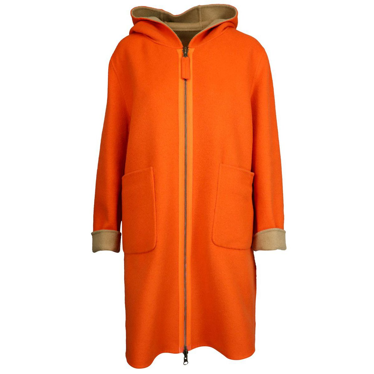 Double cout jacket Orange / beige Maliparmi