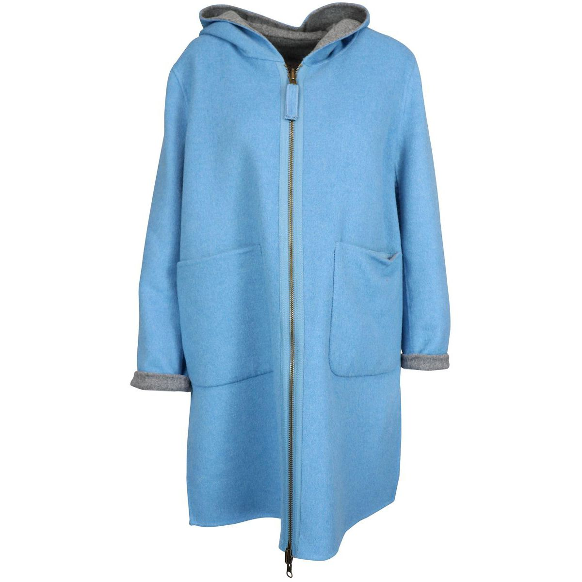 Double cout jacket Blue / gray Maliparmi