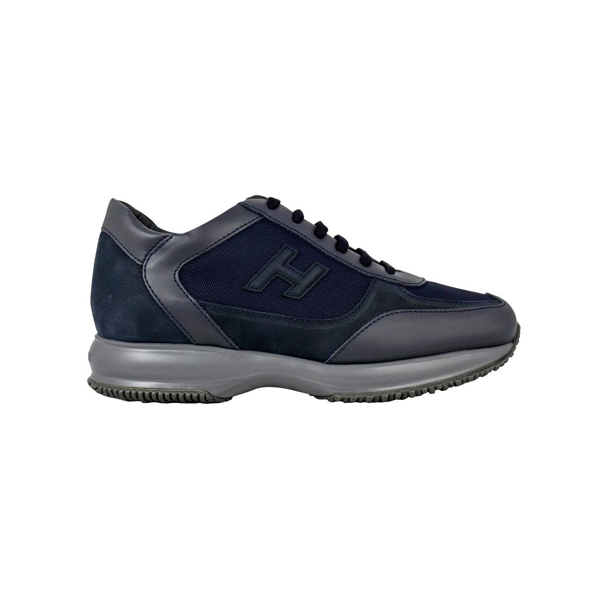 New Interactive sneakers in leather Navy Hogan