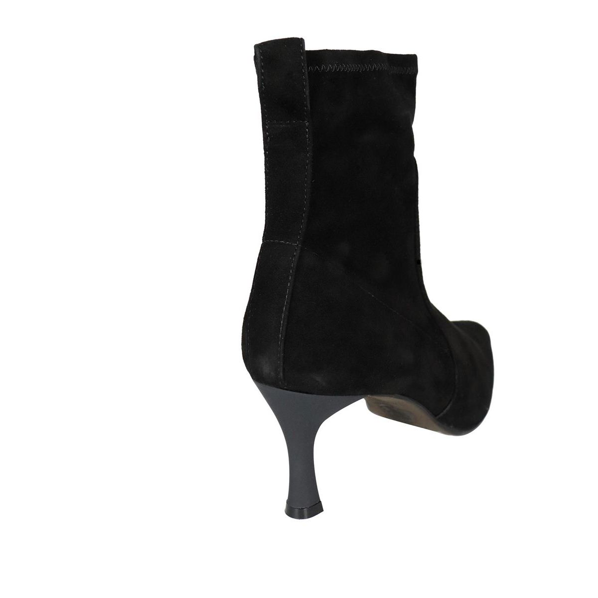 Ankle boot with suede heel Black Maliparmi