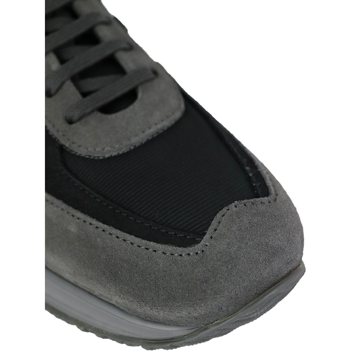 New interactive sneakers in suede leather Gray / black Hogan
