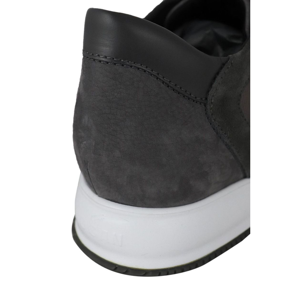 New interactive sneakers in suede leather Moro / gray Hogan