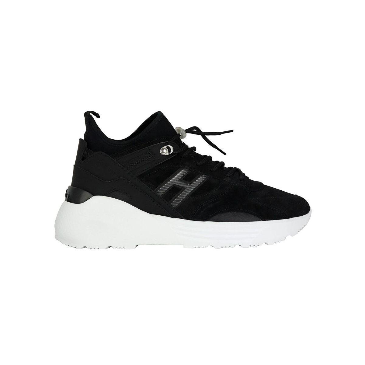 Trekking sneakers in suede bottom 443 Black Hogan