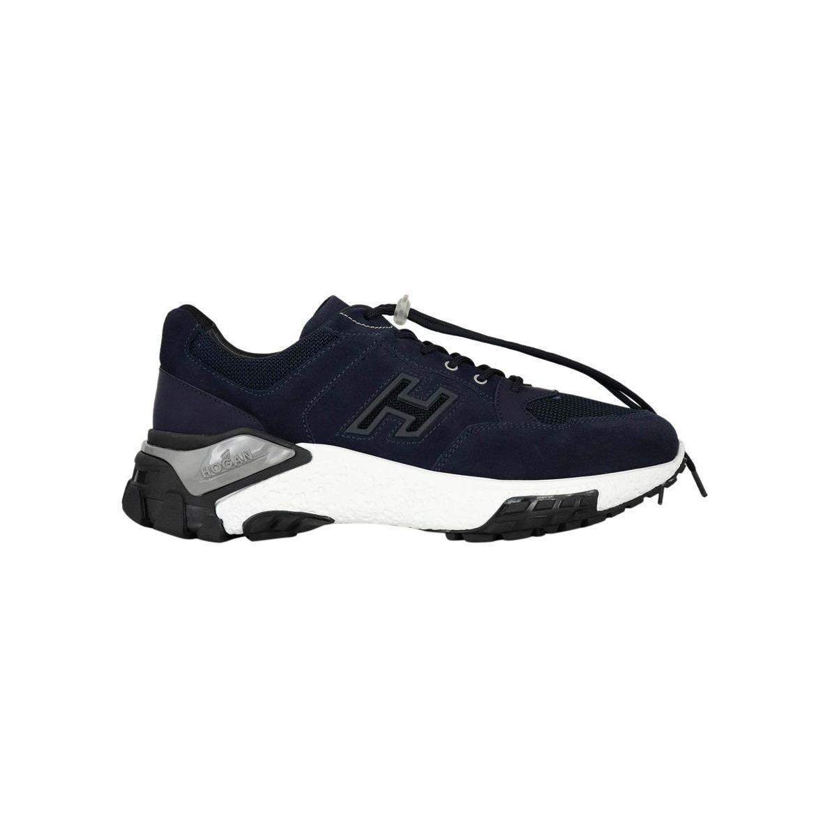 Sneakers in suede bottom 477 Blue Hogan